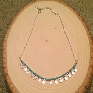 Brand New Free People Silver & Turquoise Necklace